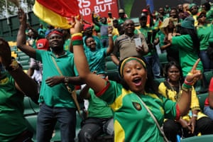 Cameroon fans make some noise