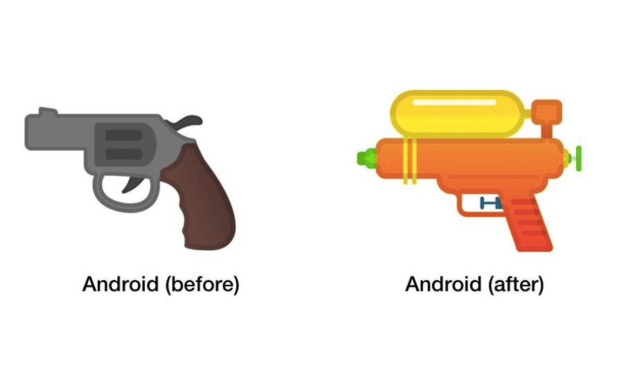 google gun emojis