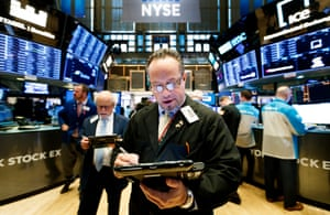 Traders work on the floor of the New York Stock Exchange today?