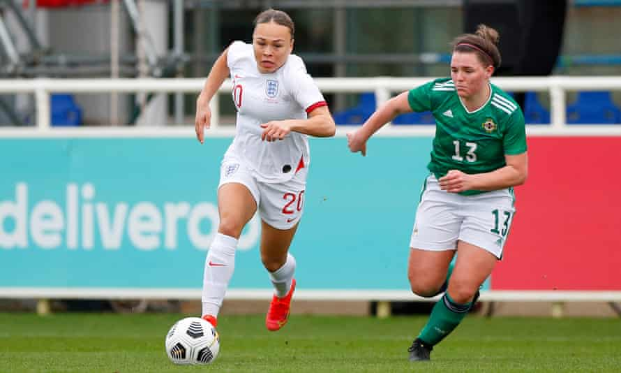 Ebony Salmon was the one black player in England's squad to face Northern Ireland.