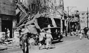 1923年に東京を襲った関東大震災後の廃墟