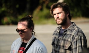 Atypical competence ... Clark Duke and Liam Hemsworth in Arkansas.
