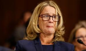 Christine Blasey Ford appears at the Brett Kavanaugh hearings
