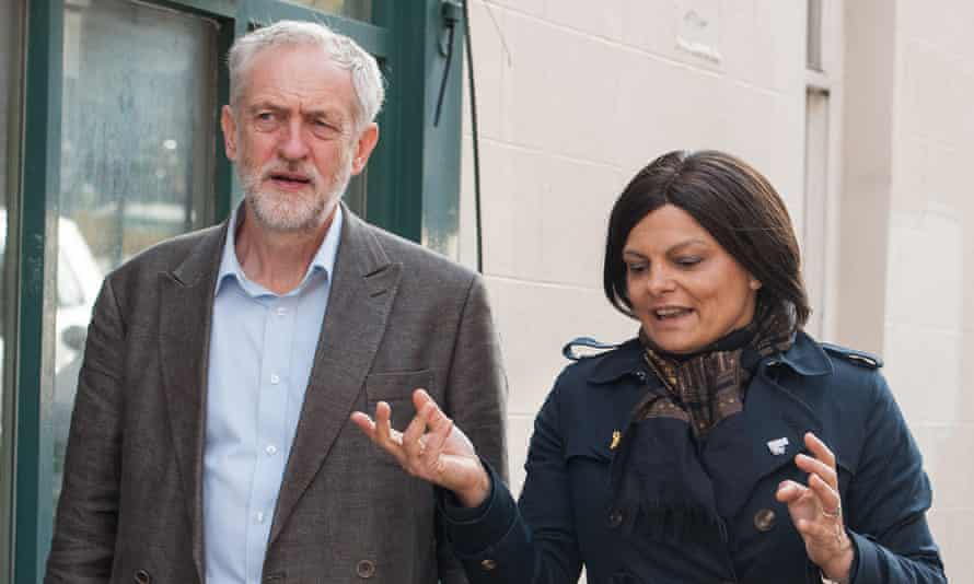 Corbyn and Thangam Debbonaire, who has said she won't vote for triggering article 50.