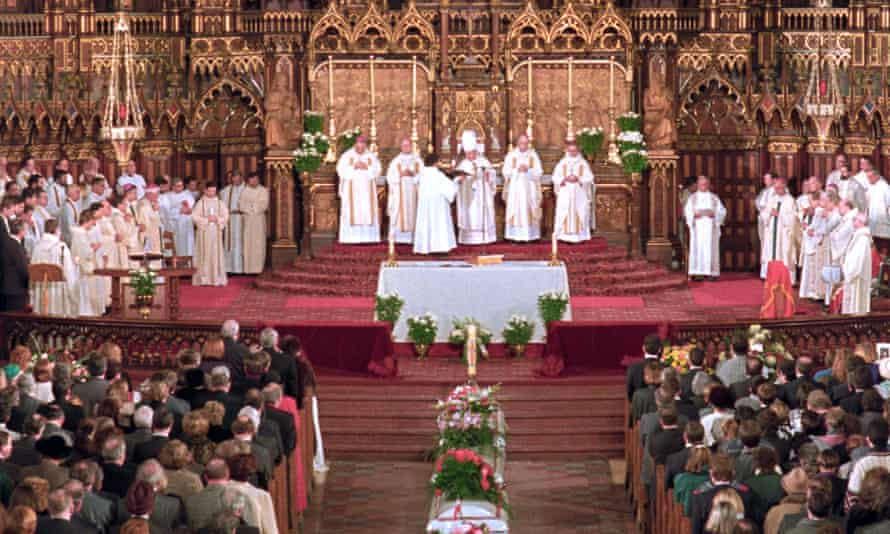 A service at Notre Dame Basilica for some of the 14 women killed by Marc Lepine in Montreal's Ecole Polytechnique.
