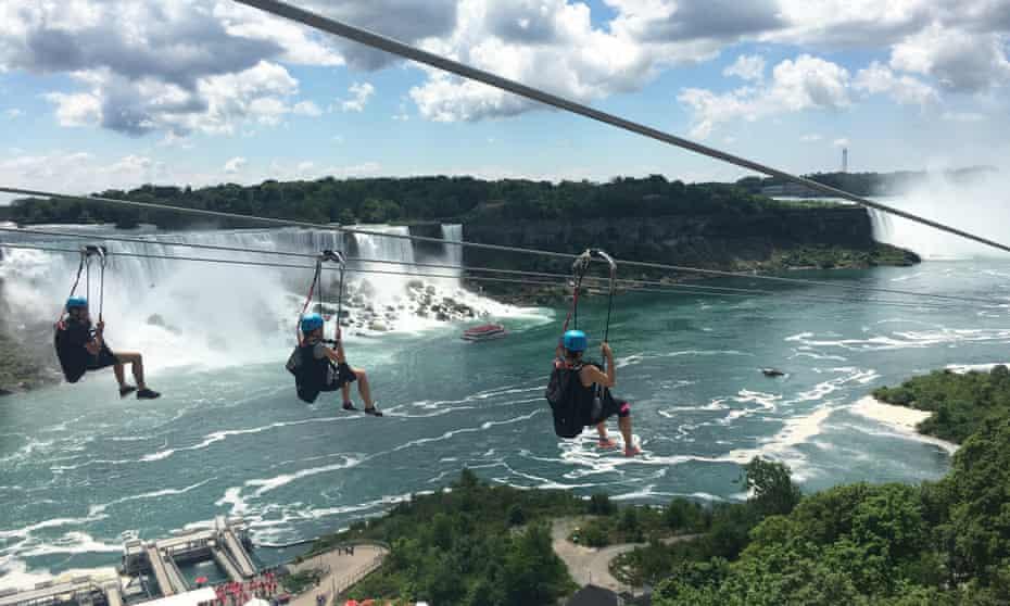 Mistrider zipline at Niagara Falls