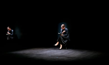 Anita Hegh in Belvoir theatre's 2020 production of A Room Of One's Own, Photo by Brett Boardman