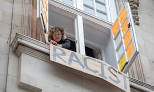 An anti-racism protest at Deptford town hall organised by Goldsmiths, University of London students.