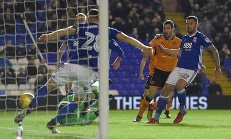 Léo Bonatini downs Birmingham to give Wolves four-point lead at the top