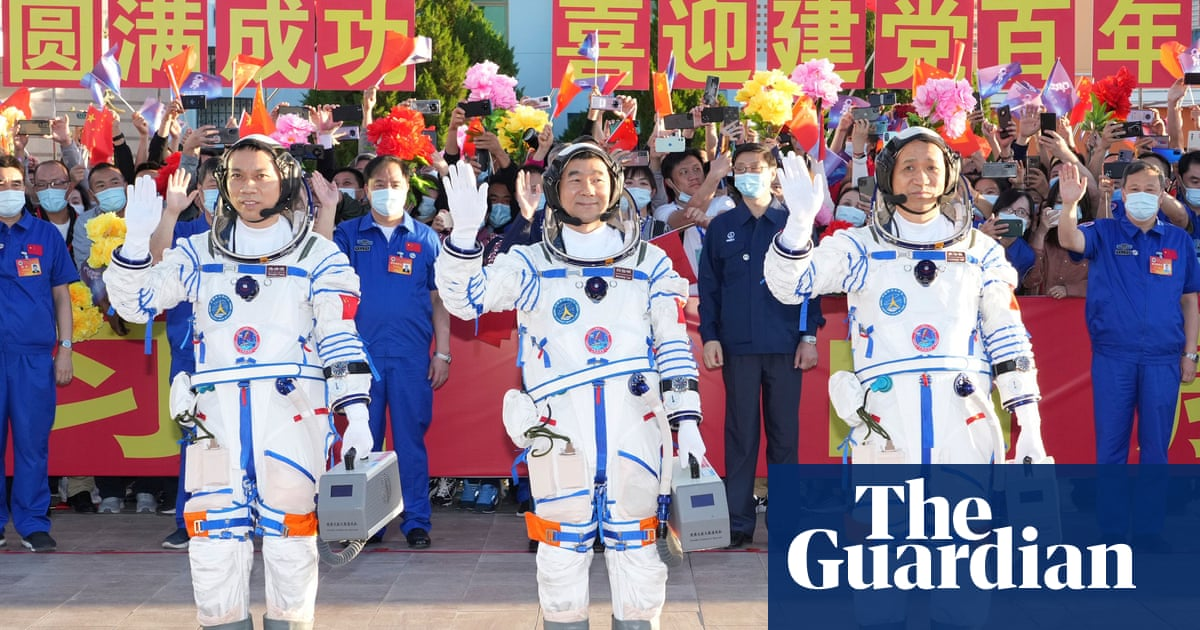 First astronauts to blast off for China's new space station