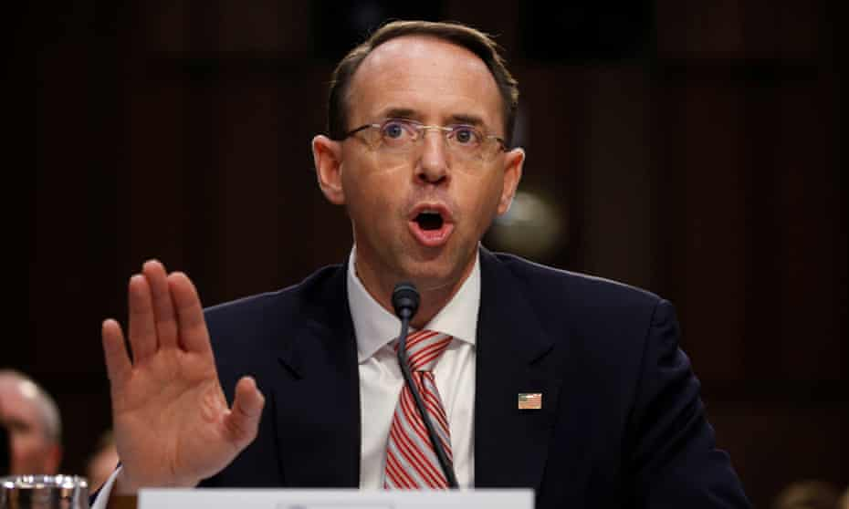 Rod Rosenstein will leave the justice department in mid March