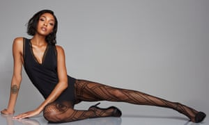 Jourdan Dunn wears Calzedonia tights from its Made in Italy range.