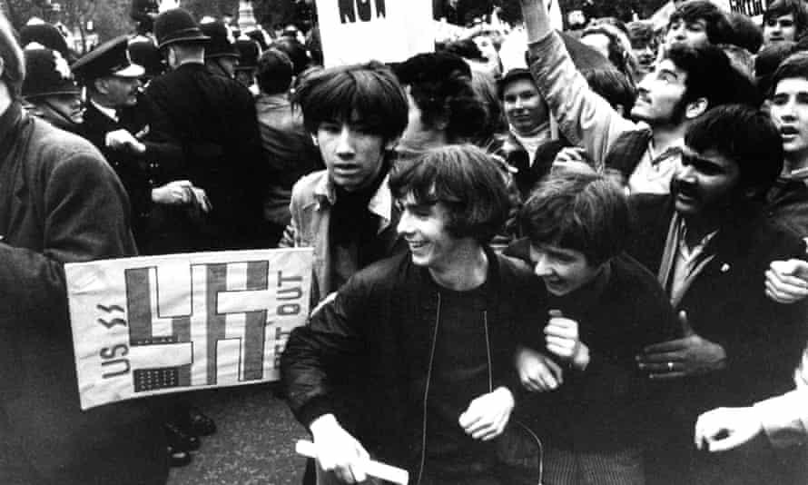 Anti-Vietnam war demonstrators outside Downing Street in October 1968.