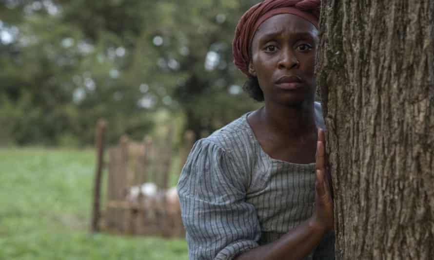 Difficult for (white) conscience to ignore … Cynthia Erivo as Harriet Tubman in Harriet.