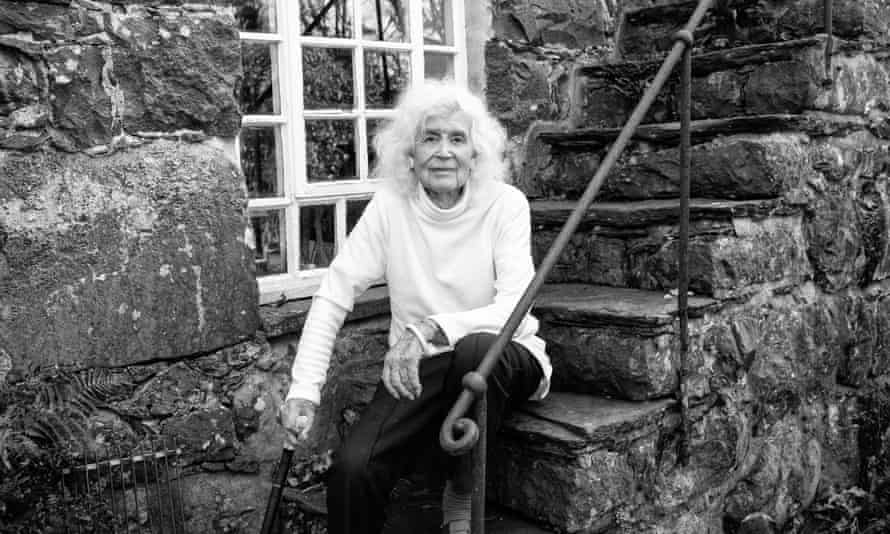 Jan Morris photographed at her home in Wales