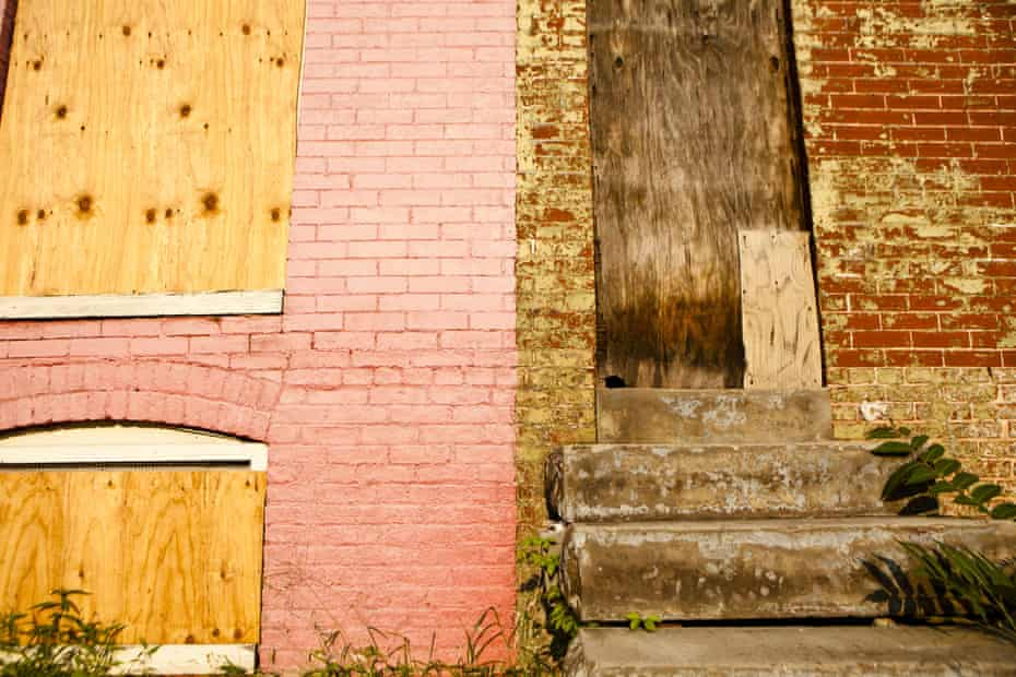 Vacant houses in Baltimore, Maryland. More than one third of these buildings are now owned by the city.