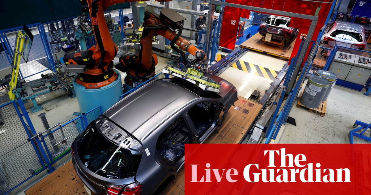 German factory output falls as supply chain problems deepen – business live