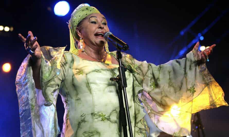 Esma Redžepova  on stage in 2006
