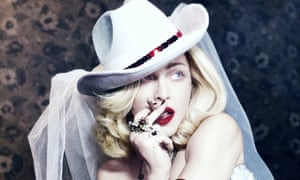 Ranch dressing … Madonna tries out the look.