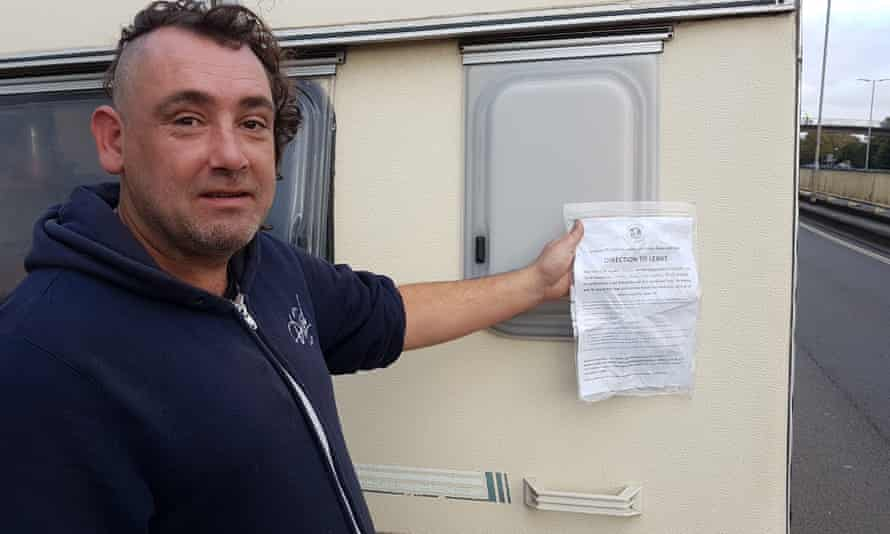 Nigel, who lives in a van on New Gatton Road in St Werburghs, has been ordered to move on.