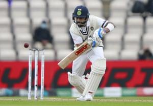 Virat Kohli has his eye in.