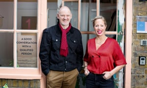Stuart Jeffries with Jodie Cariss, the founder of Self Space.