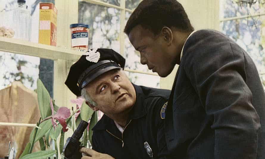 Orchid expert … Sidney Poitier, right, and Rod Steiger in In the Heat of the Night.