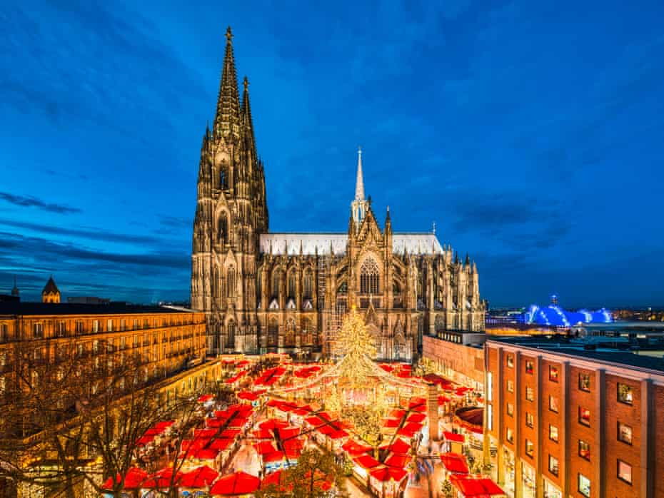 Christmas market in front of the Cathedral of Cologne