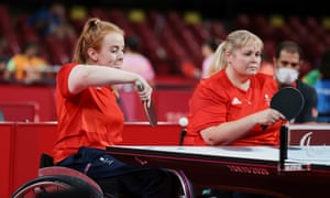 Great Britain's Megan Shackleton and Susan Bailey in action against China.