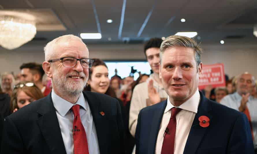 Jeremy Corbyn and Keir Starmer, pictured in 2019.