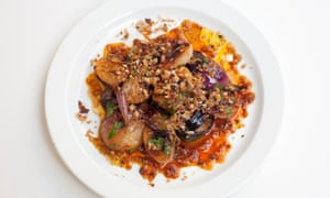 'Soft, sweet caramel tones': grilled onions with nduja.