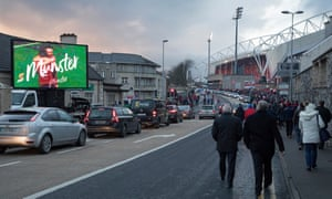 Fans make their way to the game before the European Champions Cup between Munster and Exeter at Thomond Park.