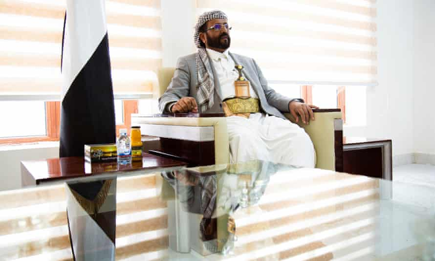 Sultan al-Aradah, Governor of Ma'rib, pictured at his office in Ma'rib, Yemen on 3 September, 2019.