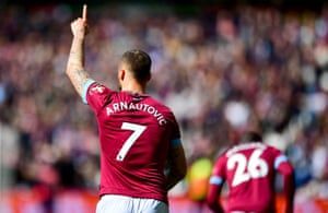 Marko Arnautovic makes no mistake from a lovely Noble through ball.