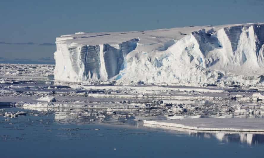 The Totten glacier, East Antarctica.