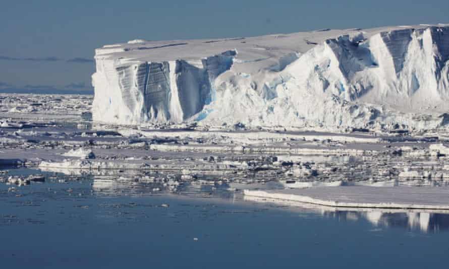 The Totten glacier in Antarctica