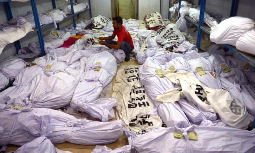 Bodies of heatwave victims in a morgue in Karachi, June 2015