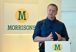 David Potts chief executive of Morrisons.