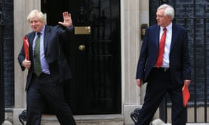 David Davis resignationFile photo dated 06/09/16 of Foreign Secretary Boris Johnson (left) and Secretary of State for Exiting the European Union David Davis who has resigned from the Government. PRESS ASSOCIATION Photo. Issue date: Monday July 9, 2018. See PA story POLITICS Brexit. Photo credit should read: Gareth Fuller/PA Wire