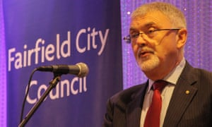 Peter Shergold speaks at the launch of the Fairfield city settlement action plan