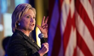 "Democratic Presidential Candidates Attend ""First In The South"" Dinner<br>CHARLESTON, SC - JANUARY 16: Former Secretary of State and Democratic presidential hopeful Hillary Clinton speaks at the ""First in the South"" Dinner on January 16, 2016 in Charleston, South Carolina. Clinton is in town campaigning before tomorrow night's democratic presidential debate. (Photo by Andrew Burton/Getty Images)"
