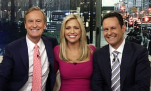 Ainsley Earhardt, Steve Doocy, and Brian Kilmeade host Fox and Friends, a show beloved by the president.