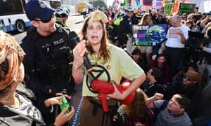 Extinction Rebellion protesters block Brisbane CBD streets, 6 August 2019