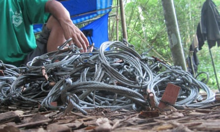 Snares collected from the Annamite Mountains of Vietnam, home to numerous species found no-where else including the saola.
