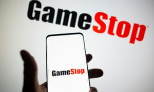 GameStop logo on a phone