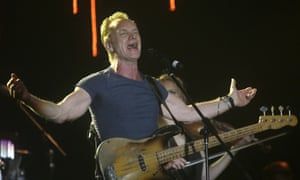 Sting will perform a one-hour charity set