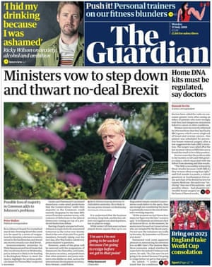 Guardian front page 22 July 2019