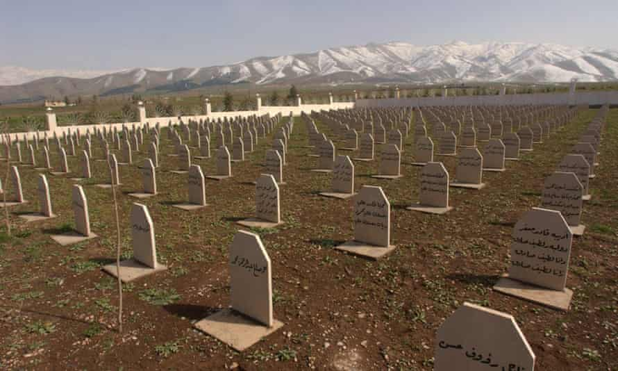 the mass grave site of most of the victims of the March 16, 1988 chemical attacks on Halabja, where some 5,000 innocent civilians, mostly women and children died in chemical attacks during the al-Anfal campaign.