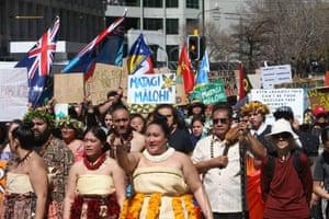 Wellington, New Zealand Thousands march on Parliament