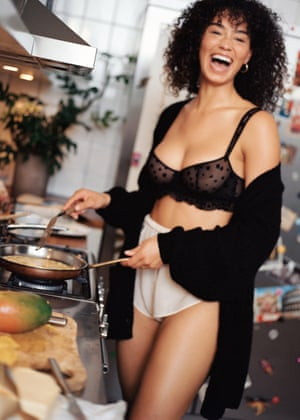 & Other Stories have teamed up with Le Petit Trou on an 11-piece lingerie collection. Think glitter dots, golden stars and moon prints, leopard jacquard on bras, camisoles and knickers. from £23, stories.com